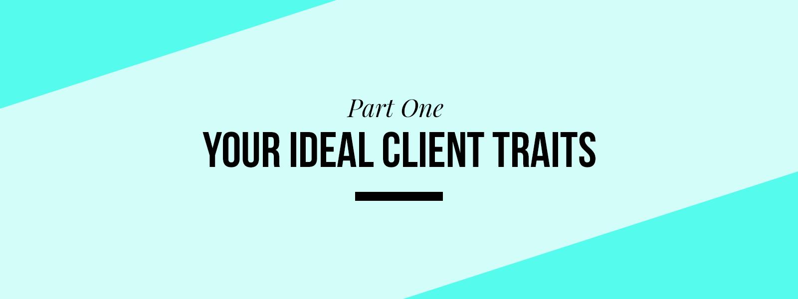 Ideal Client Profile Workbook Part 1
