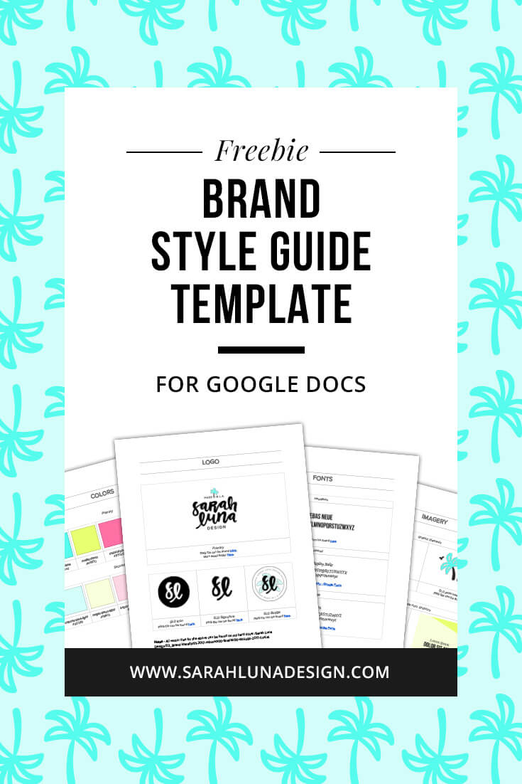 Brand Style Guide Template Pinterest