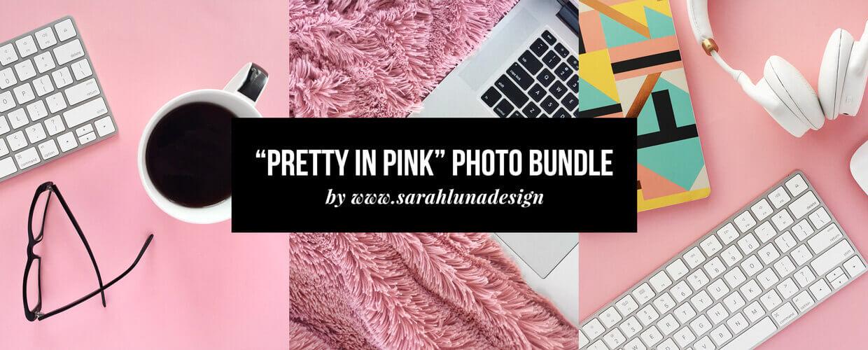 Pretty in Pink Instagram Photo Bundle Blog Header Image