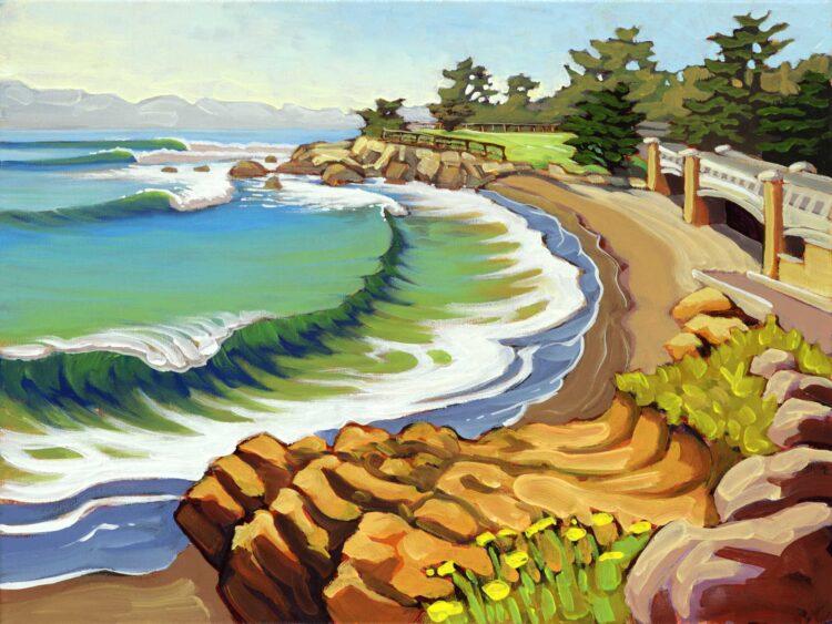 plein air artwork from Leffenwell landing on the San Luis Obispo county coast