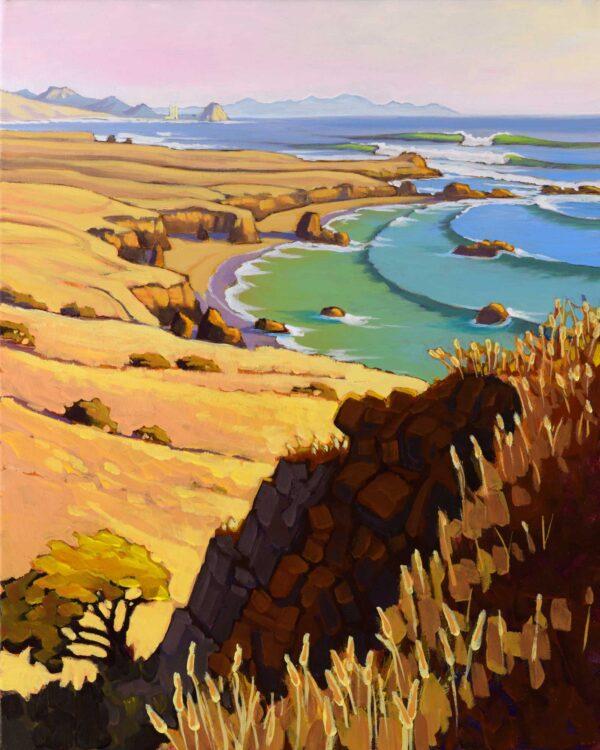 Plein air artwork from Point Estero in San Luis Obispo county on the central California coast