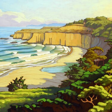 Plein air artwork from Tunitas Creek on the San Mateo coast of California