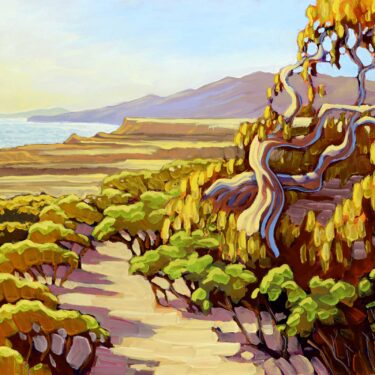 Plein air artwork from Camp Pendleton highway stop on the San Diego coast of southern California