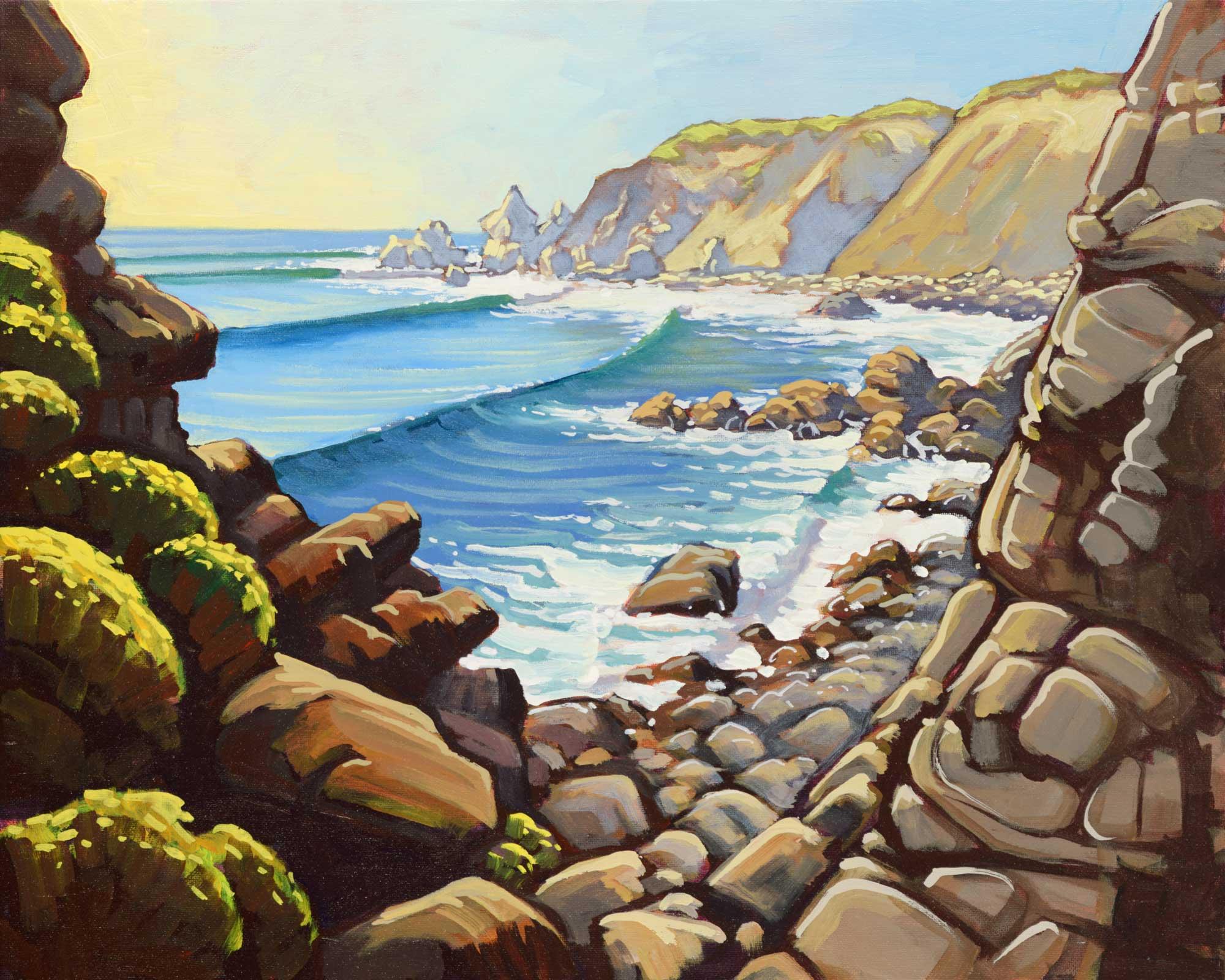 Plein air artwork from the Sonoma coast of Northern California