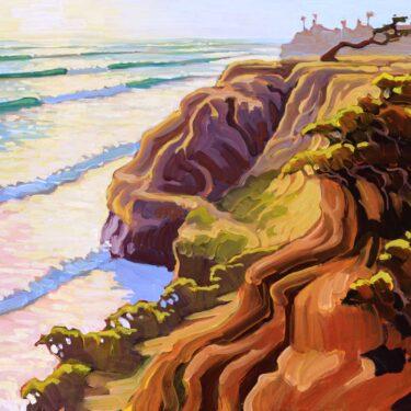 Plein air artwork from Terra Mar near Carlsbad on the San Diego coast of southern California