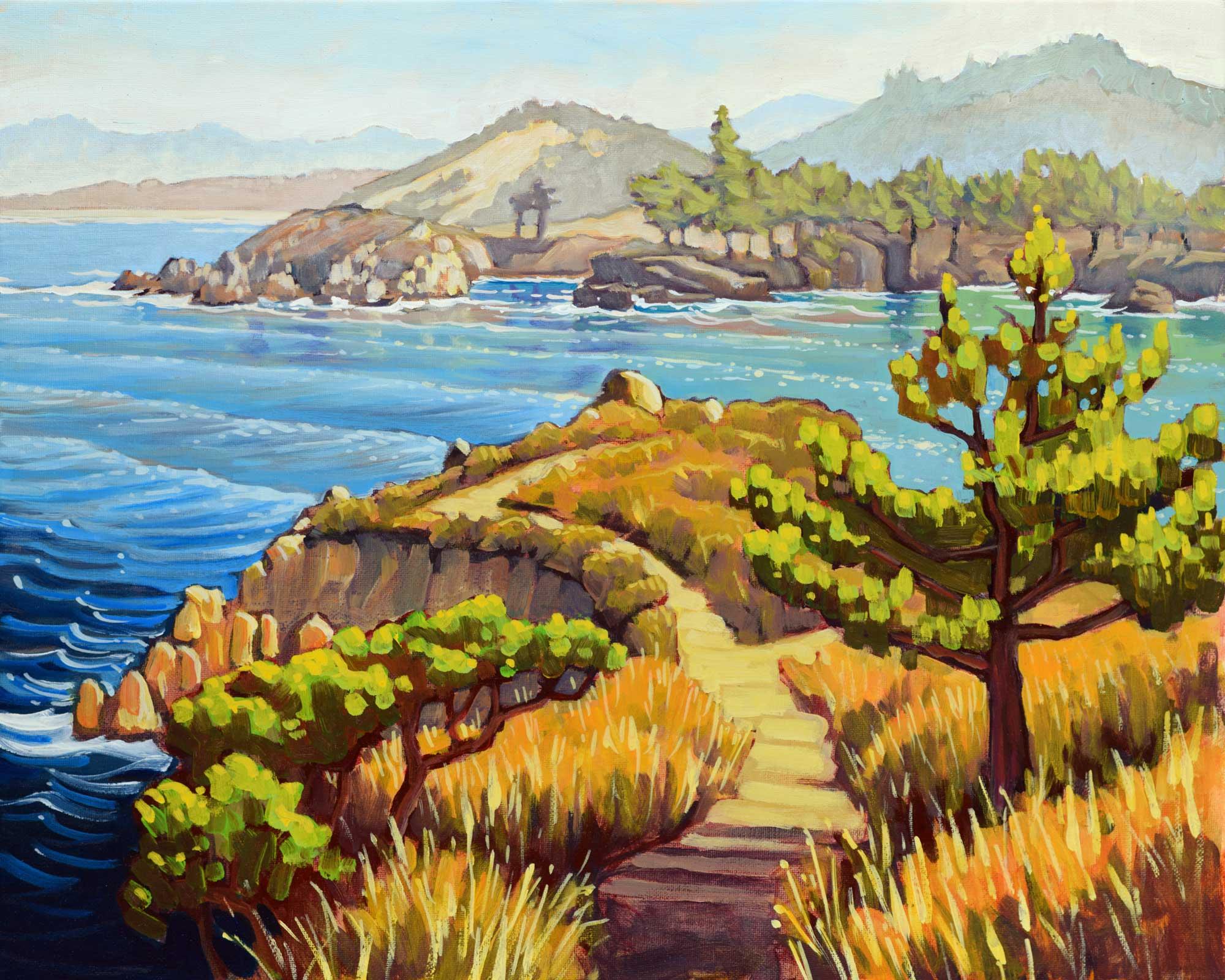 Plein air artwork from Point Lobos near Carmel on the Monterey coast of California