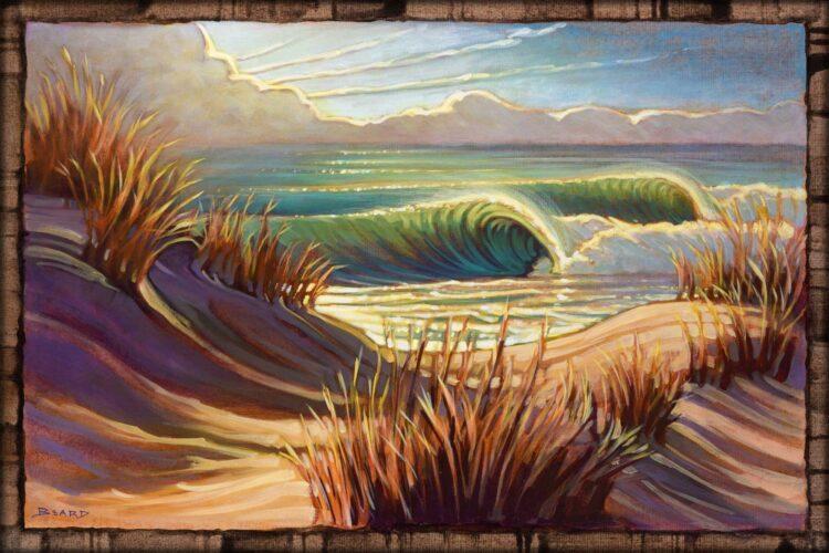 Live art of sand dunes on the Samoa peninsula on the Humboldt coast of northern California