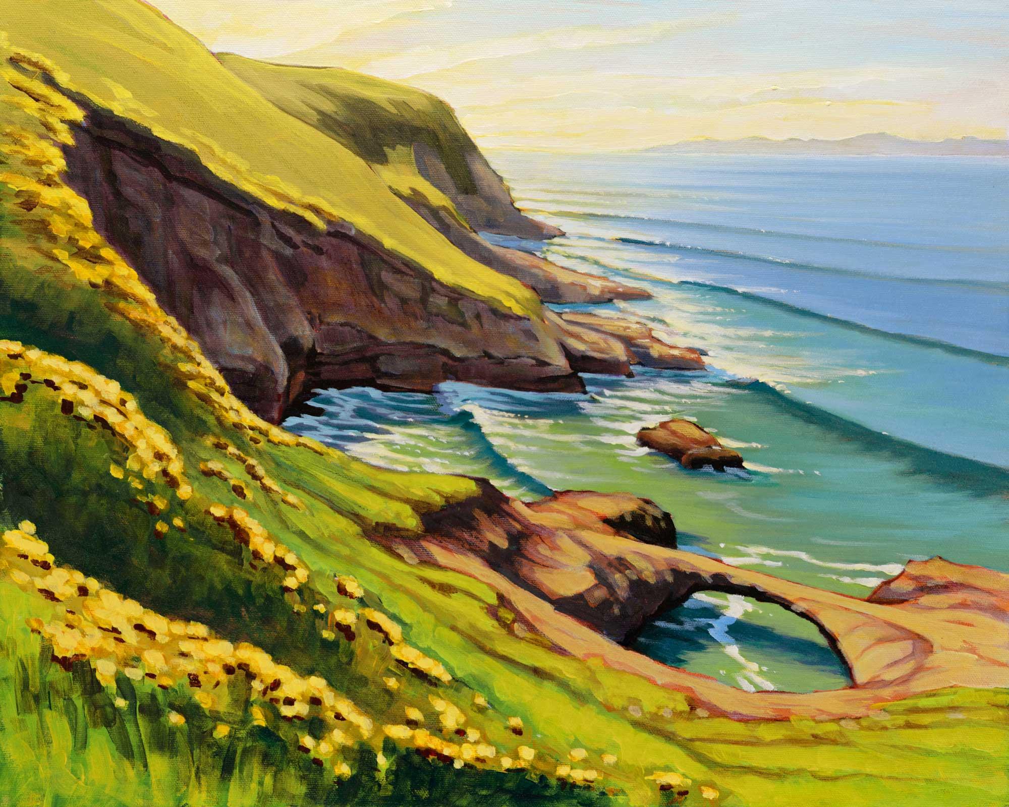 Plein air artwork from Carrington Point on Santa Rosa Island off the coast of Southern California