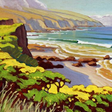 Plein air artwork from Santa Rosa Island in the Channel Islands National Park off the coast of Southern California