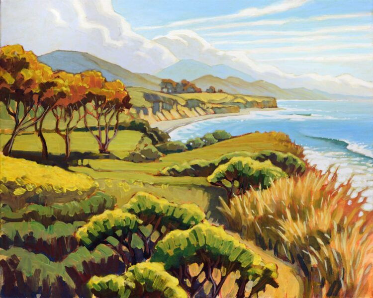 Plein air artwork from Augustine's point on Hollister Ranch on the Santa Barbara coast of southern California