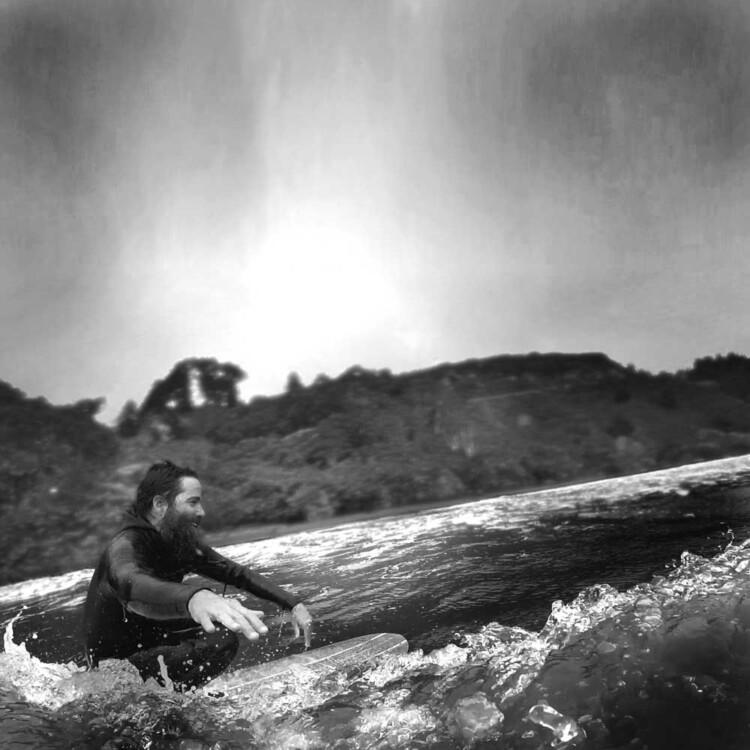 California artist Matt Beard enjoying the glide near his home in Humboldt County