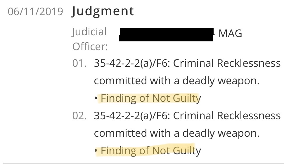 NOT GUILTY ON ALL COUNTS!