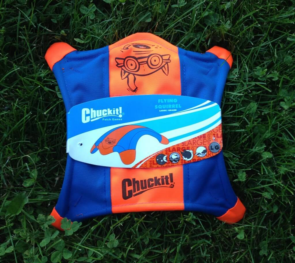 The Chuckit! Flying Squirrel makes our list of the best frisbees for dogs!