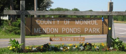 Mendon Ponds Park Sign