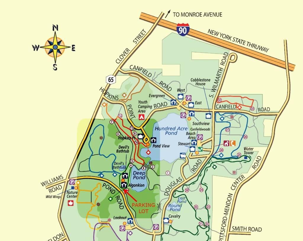 Devil's Bathtub area of Mendon Ponds Park near Rochester, NY