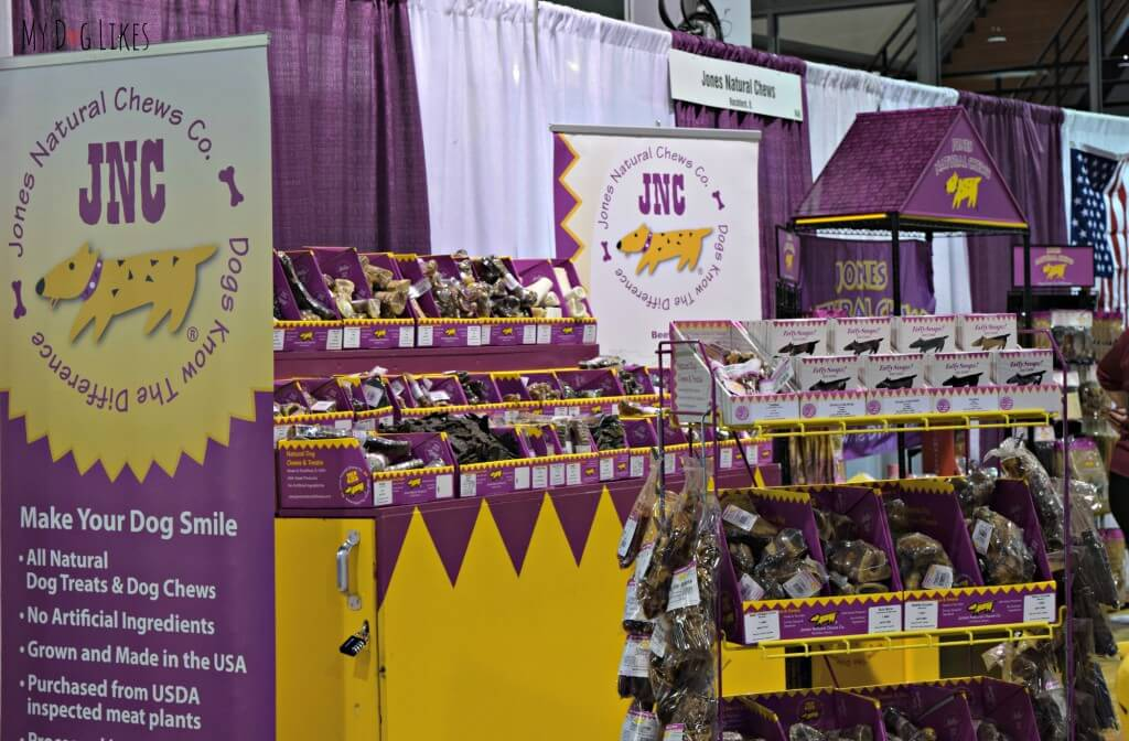 The Jones Natural Chews booth at Backer's Total Pet Expo in Chicago