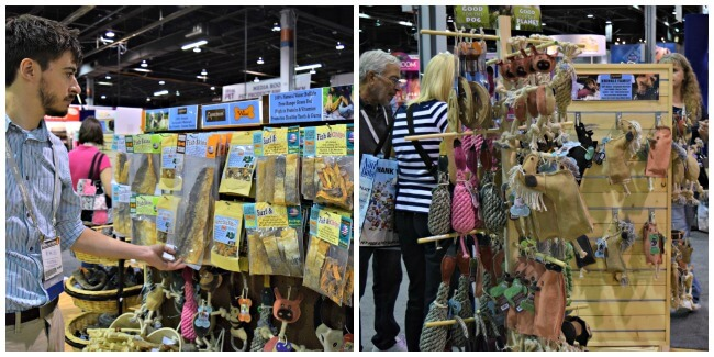 Browsing the Aussie Naturals booth at Backer's Total Pet Expo in Chicago
