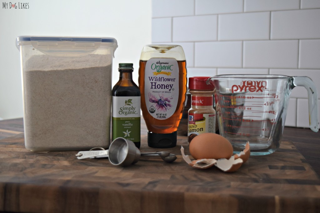 Some of the ingredients of Paws Barkery's Bow Wow SnickerDoodles