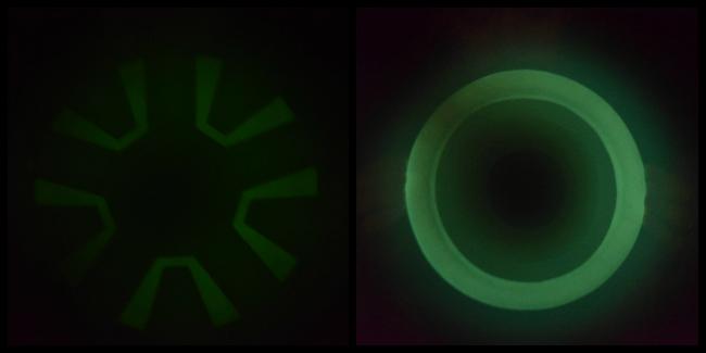 Demonstrating the ChuckIt! Zipflight Glow in the Dark Frisbee