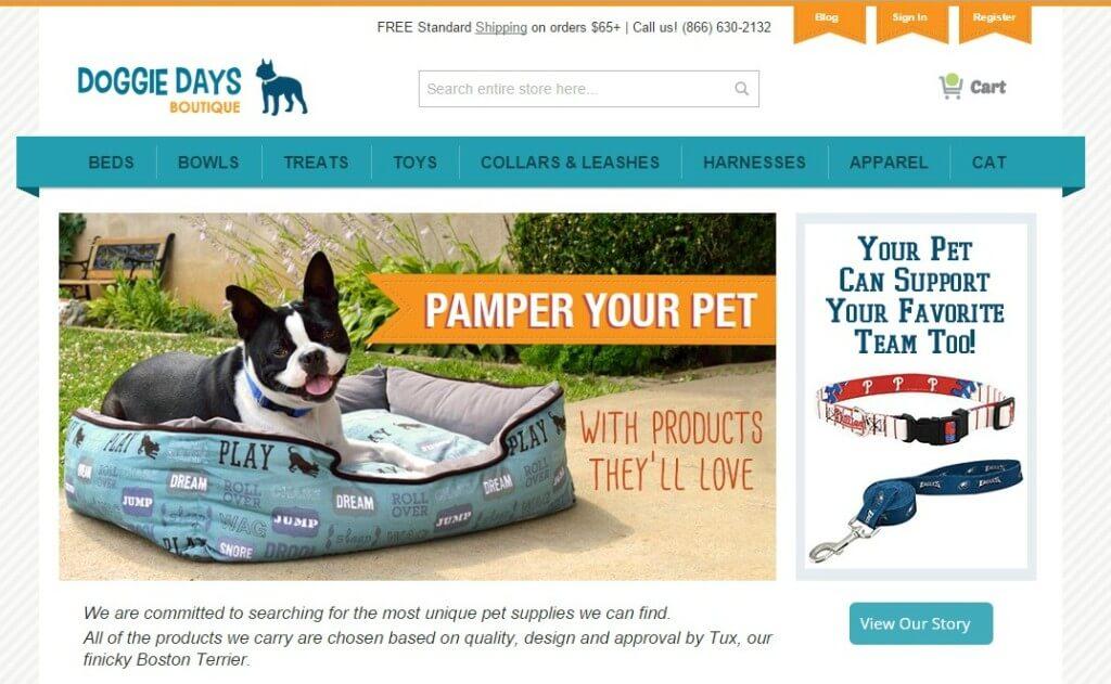 MyDogLikes reviews Doggie Days Boutique online pet store!