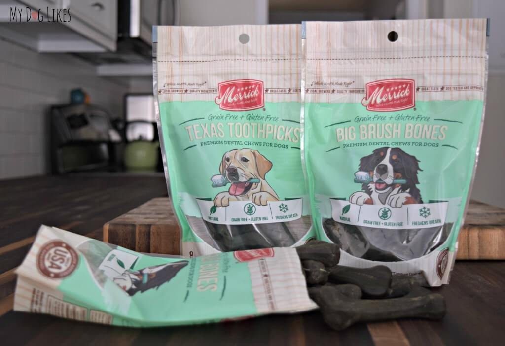 Taking a closer look at Big Brush Bones and Texas Toothpicks for our Merrick Dental Chews Review