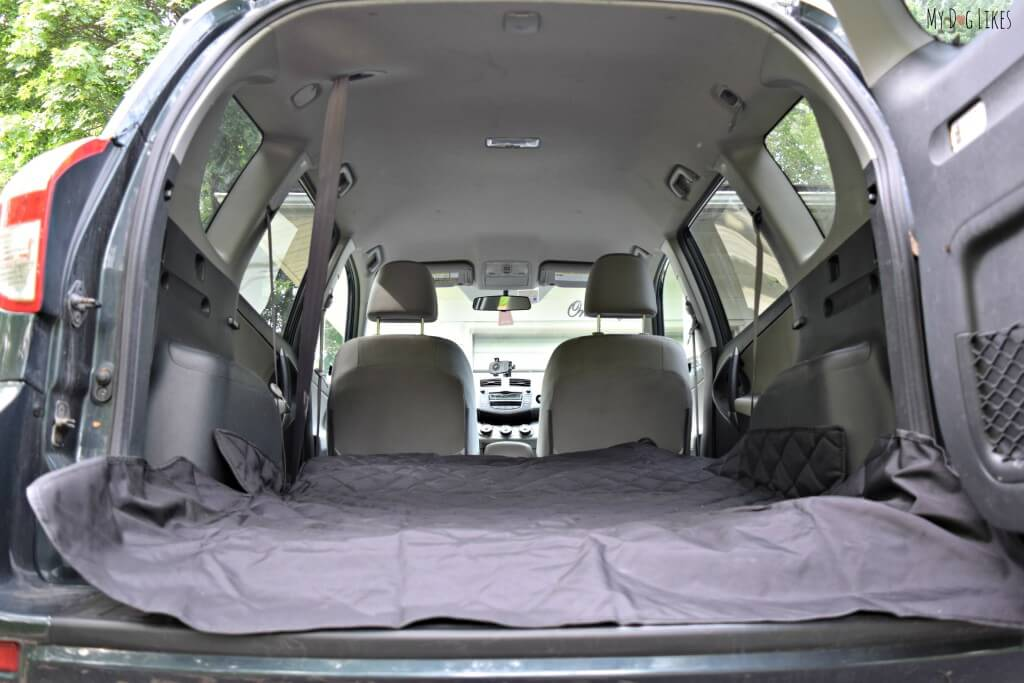 Looking for a Rav4 Cargo Cover? Our 4Knines cover installs in seconds and works with the rear seat up or down!