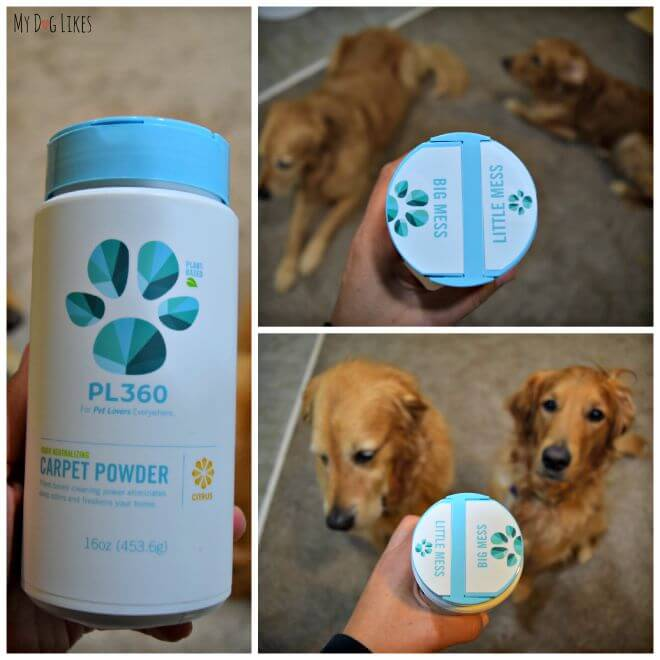 Trying out PL360's odor neutralizing carpet powder