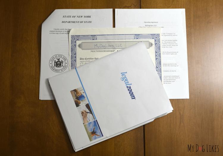LLC Paperwork - Filing for an LLC through LegalZoom