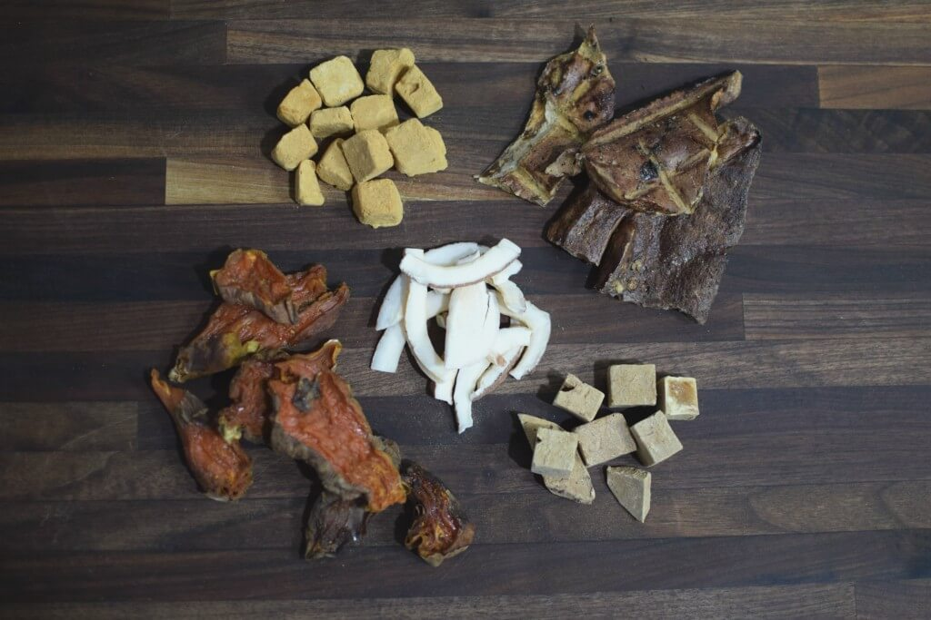 Some of our favorite healthy and single ingredient dog treats.