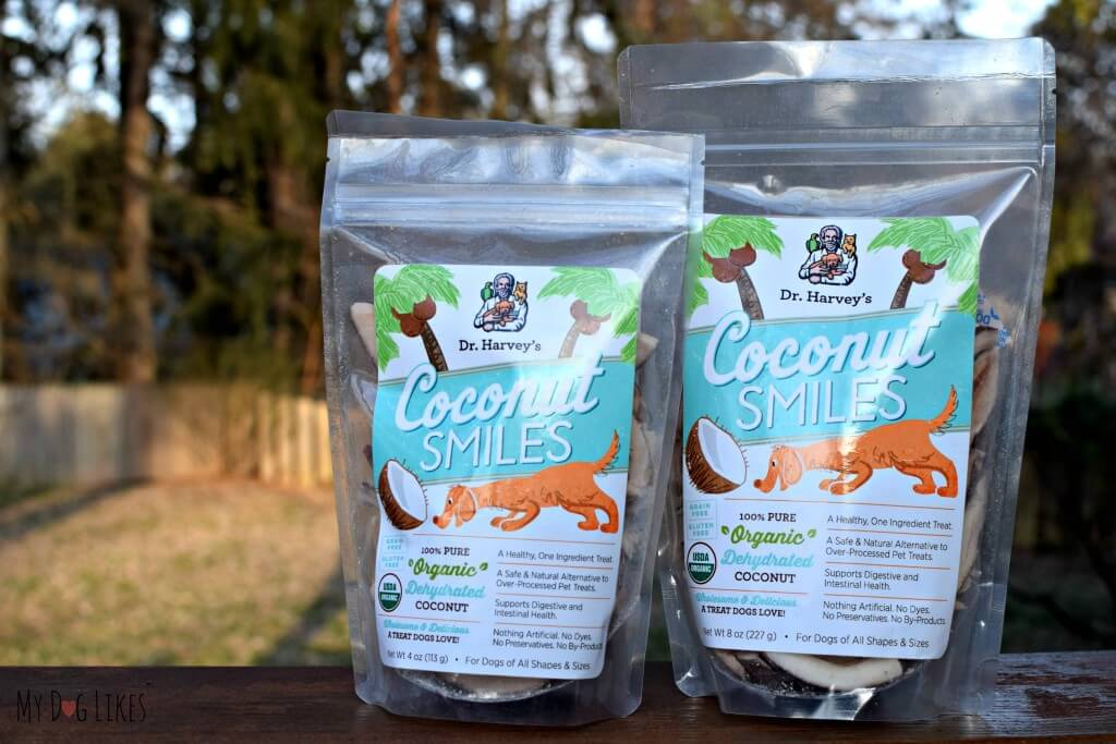 Dr. Harvey's Coconut Smiles have only 1 ingredient - Organic Coconut!