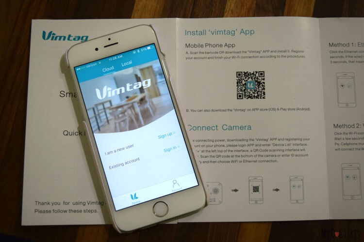 Downloading and setting up the Vimtag App for our M1 Camera