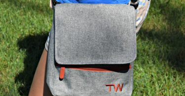 Showing off our Travel Wags Dog Walking Bag