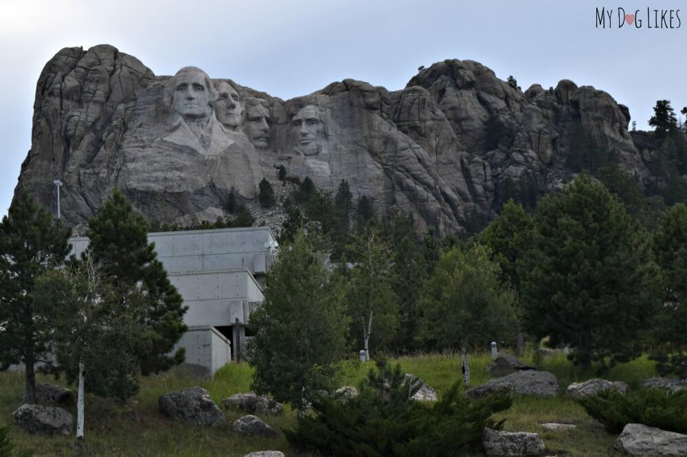 Viewing Mount Rushmore National Monument from Rt. 244 near Keystone, South Dakoka