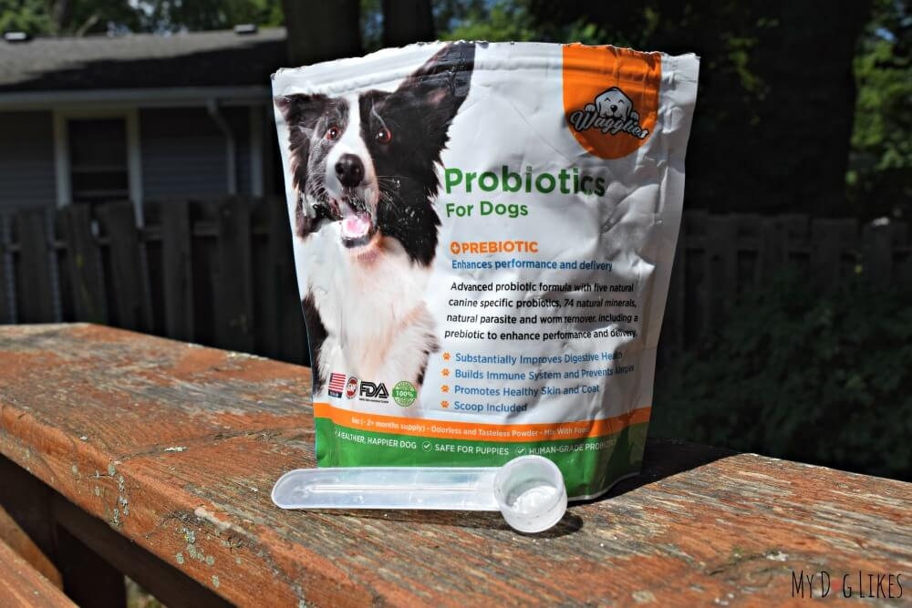 Wagglies includes a scoop in each and every bag to ensure proper dosage.
