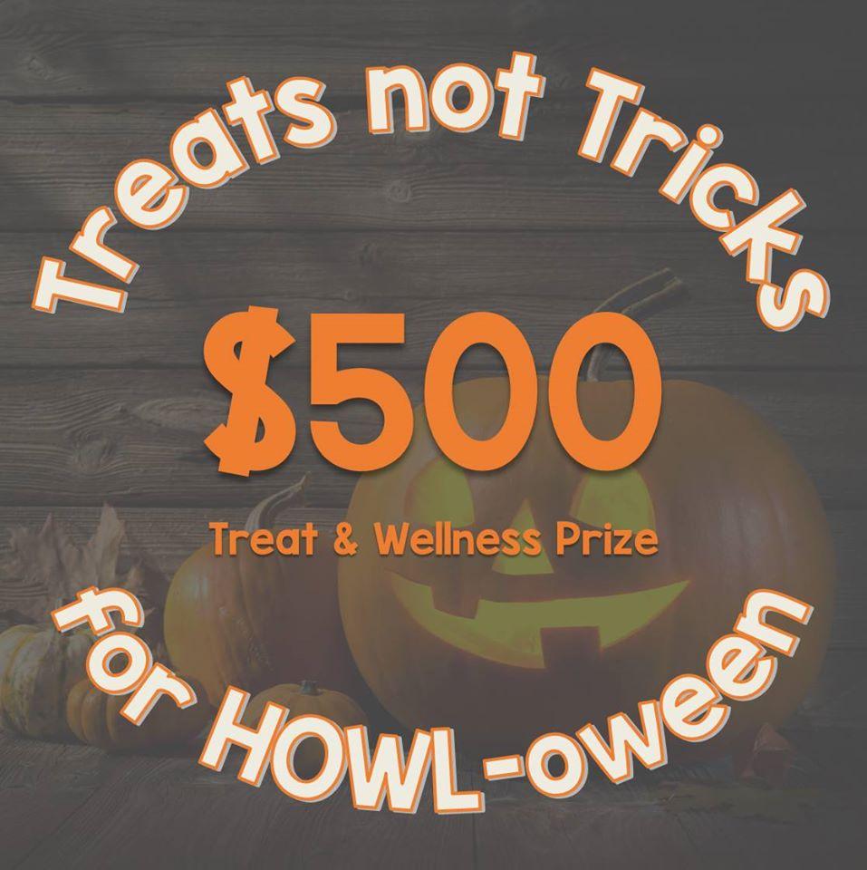 Treats not Tricks HOWL-oween giveaway Logo