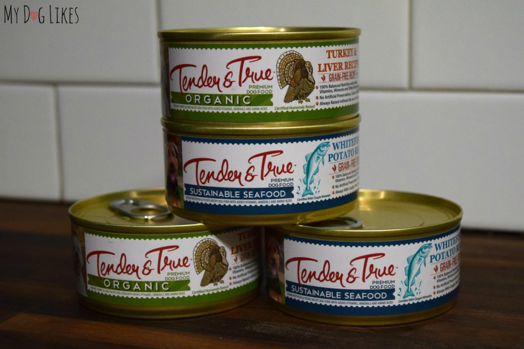 Tender & True also offers their food in a wet pate form.