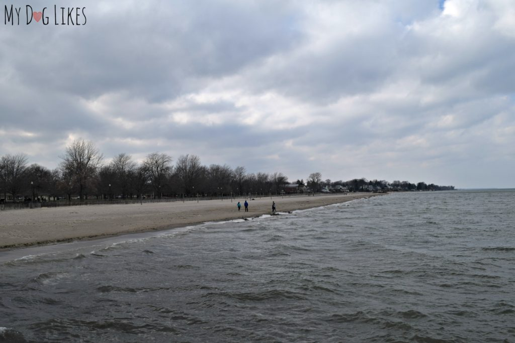The view of Ontario Beach Park from the Pier in Charlotte