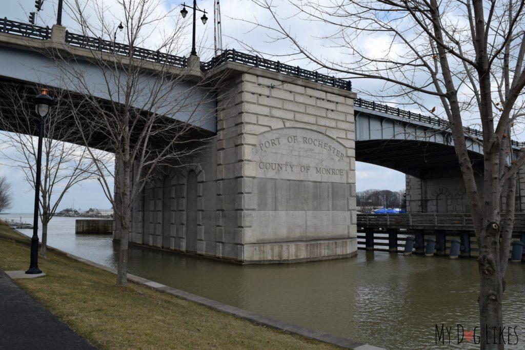 The Colonel Patrick O'Rourke Lift Bridge in Rochester, NY