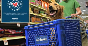 Helping animals by shopping at PetSmart!