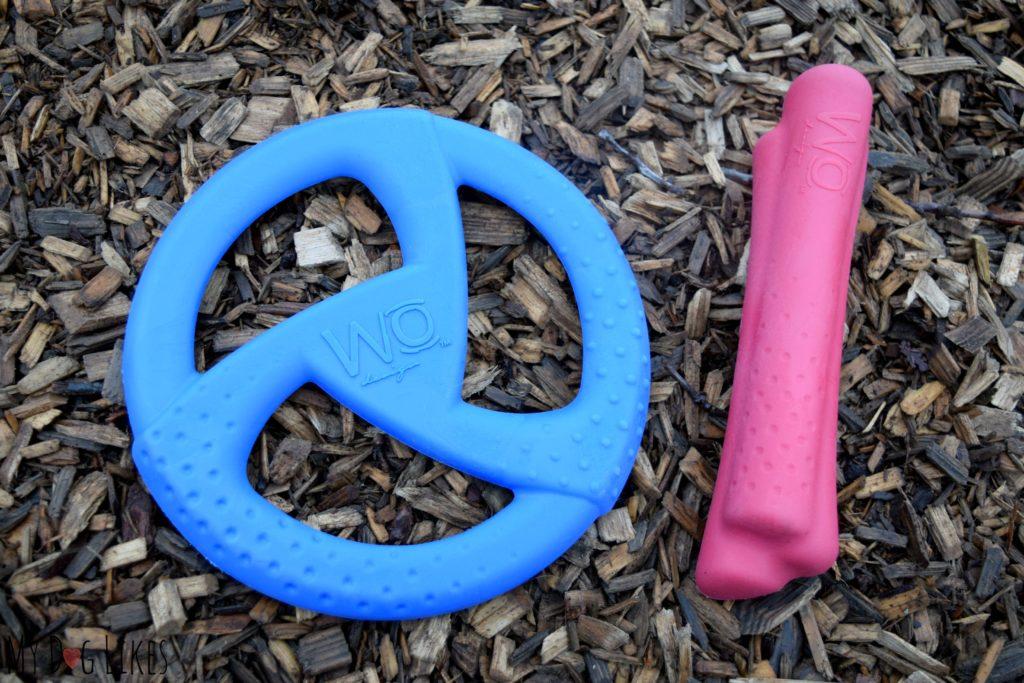 WO Disc and WO Bone dog toys