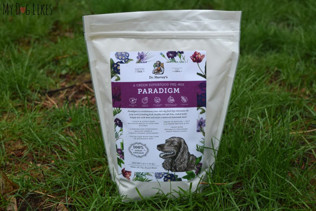 Dr. Harvey's Paradigm is a green superfood pre-mix for dogs.
