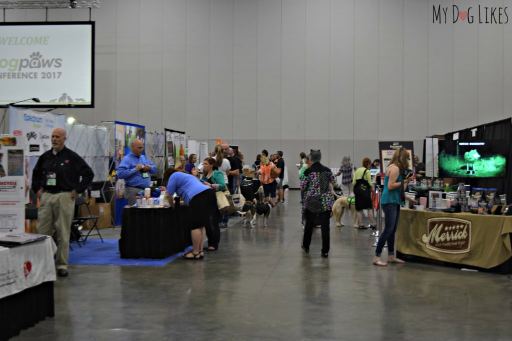 Exploring the exhibit hall at the BlogPaws 2017 Conference
