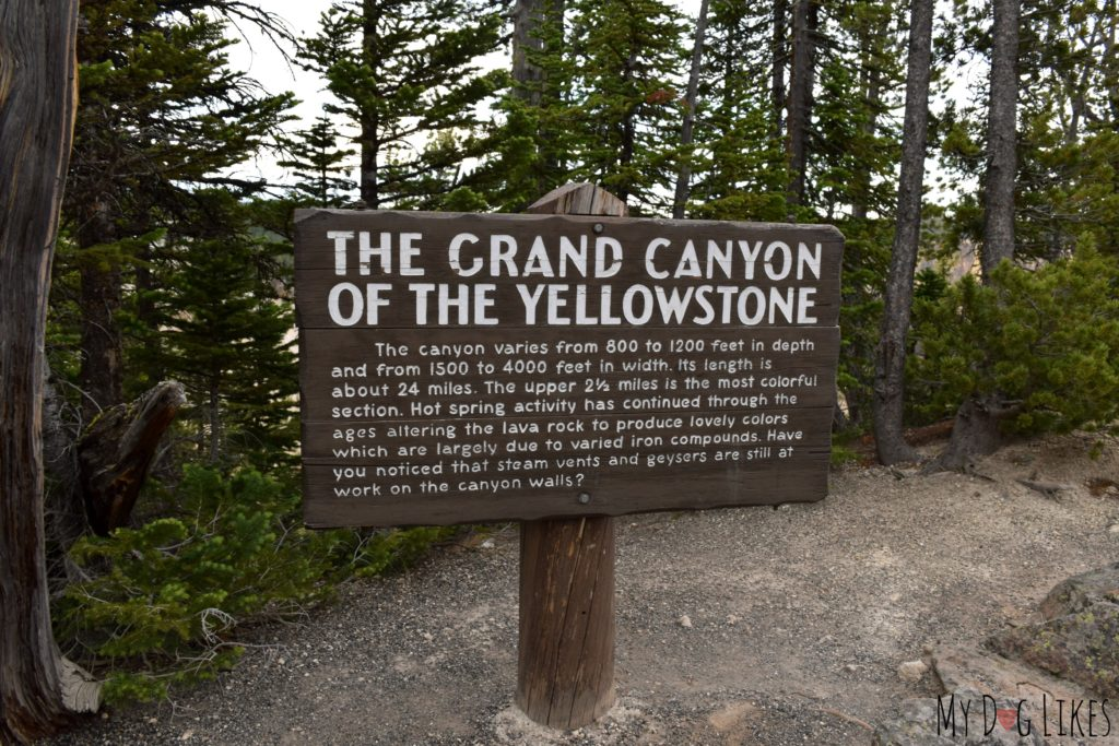 Grand Canyon of the Yellowstone sign