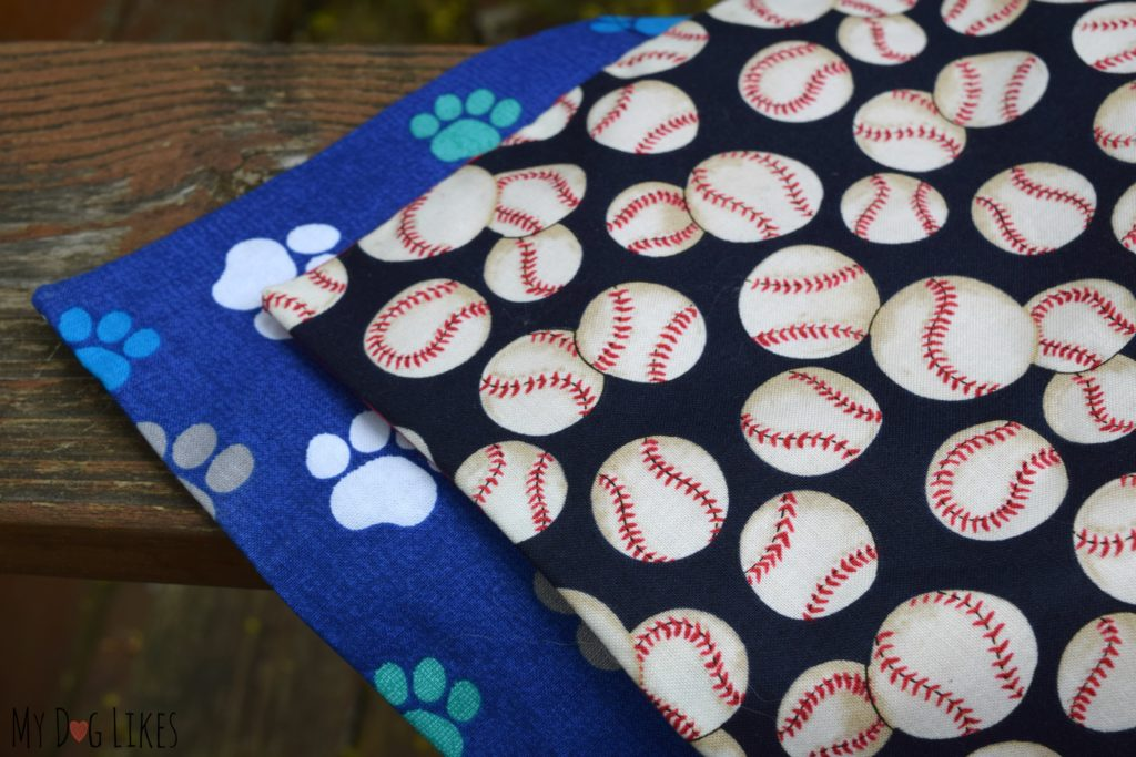 Patterned dog bandannas from D&M Dog Fashions