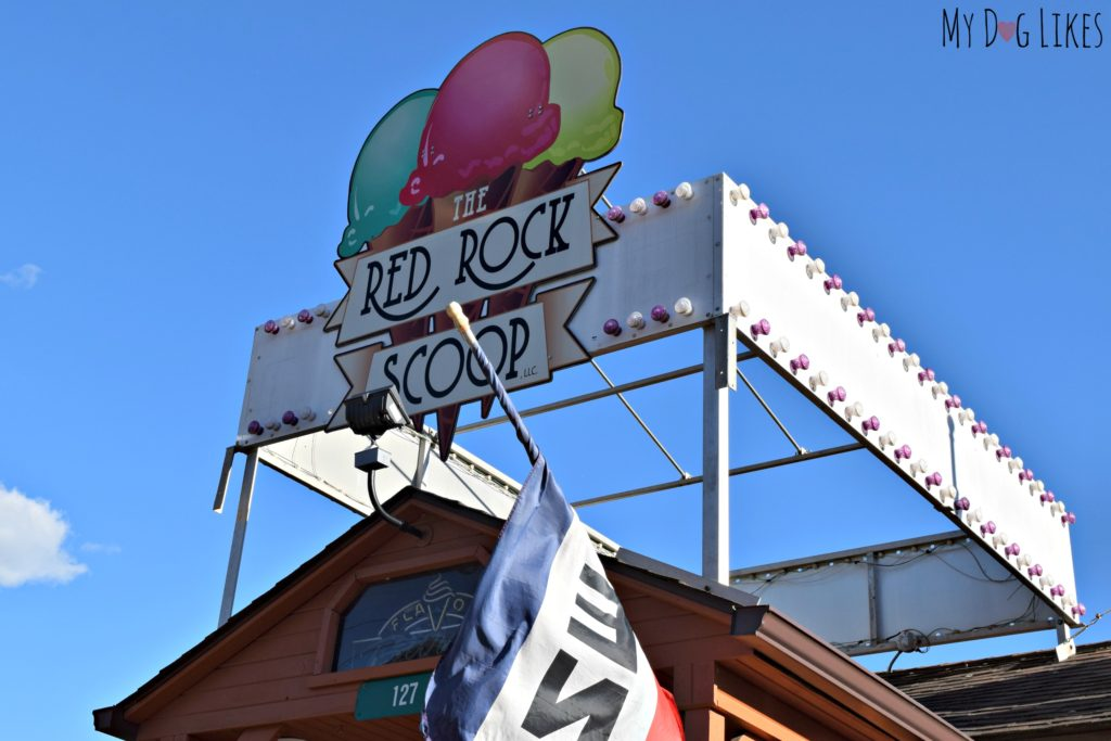Picking up some ice cream after our hike at the Red Rock Scoop!
