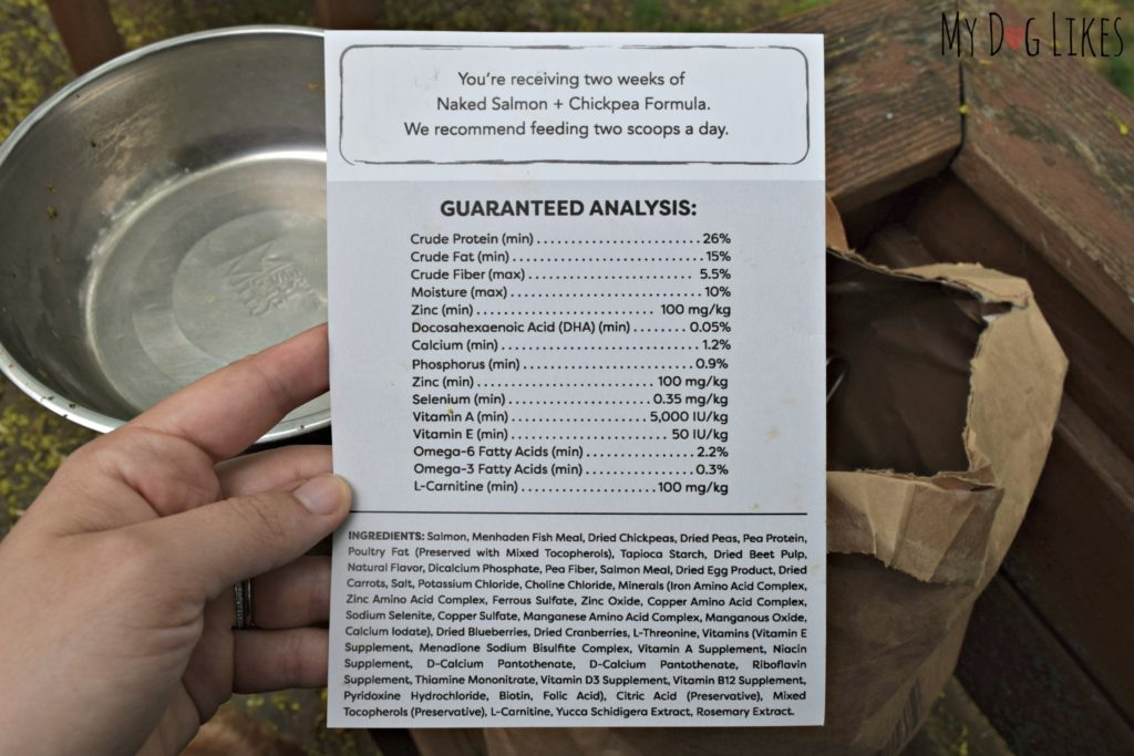Reviewing the ingredients in Naked Dog Food