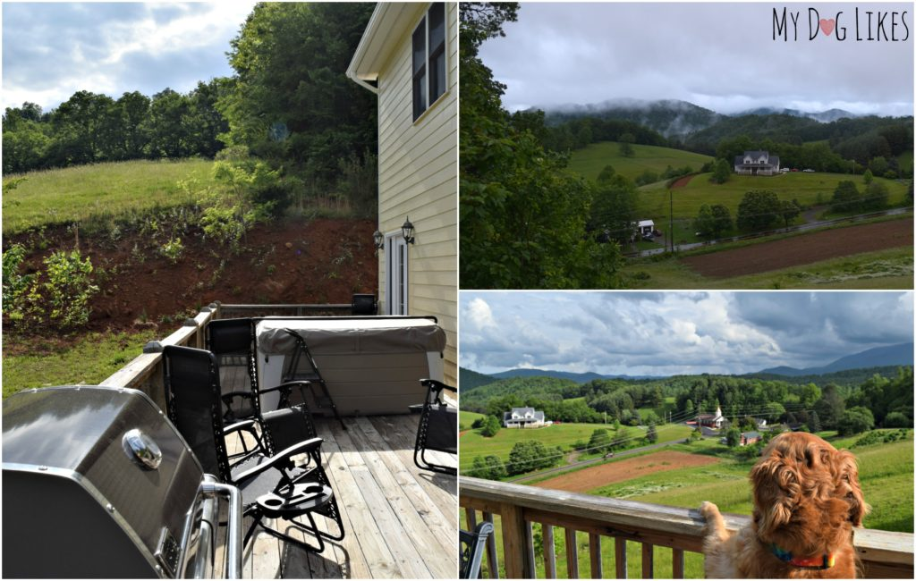 Views off the deck of the Green Mountain Chalet in Burnsville, NC