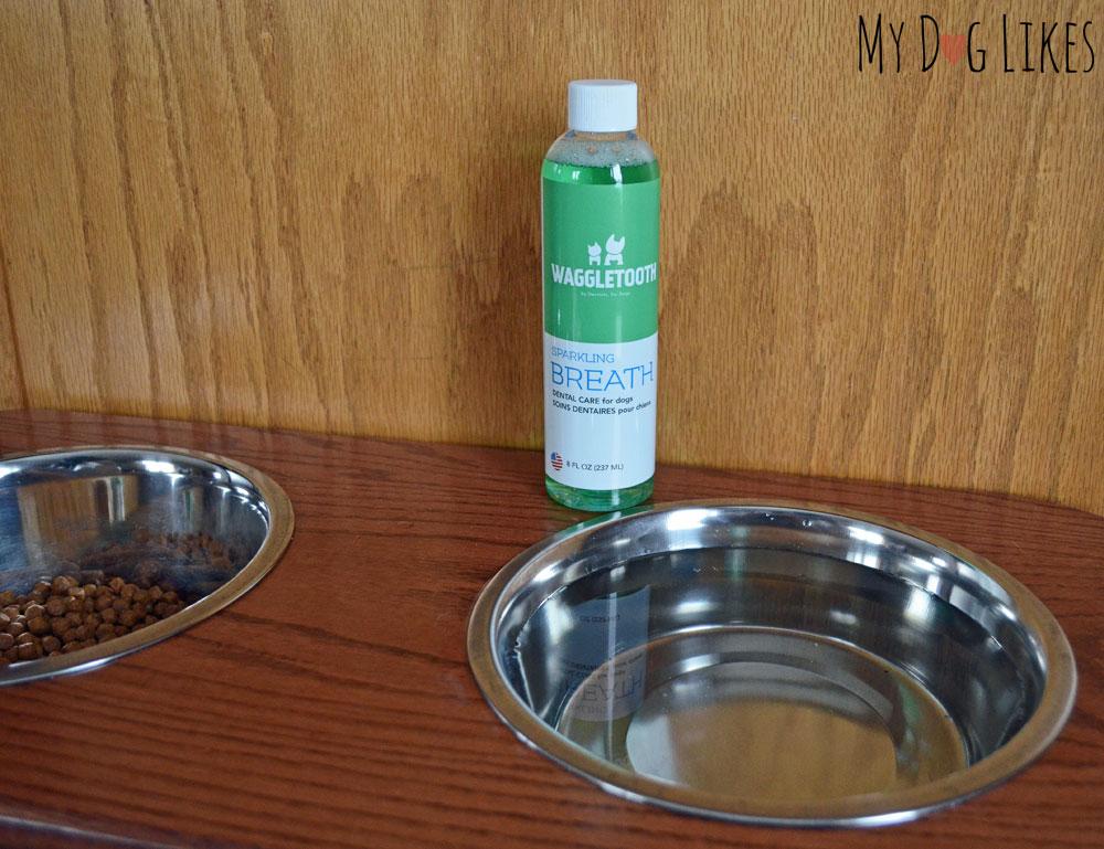 Waggletooth dog water additive for fresh breath