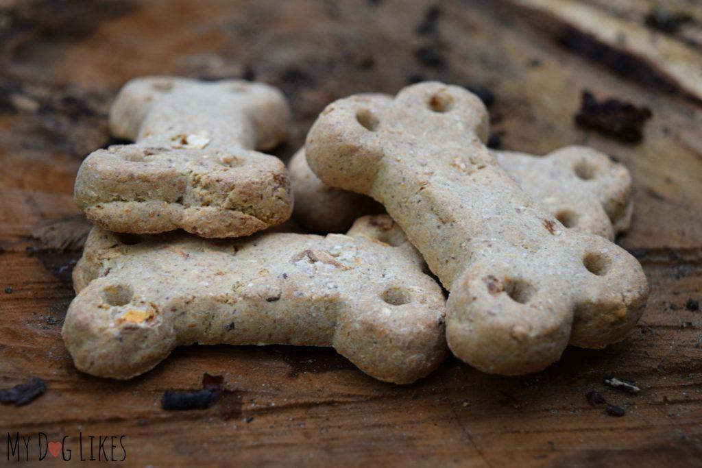 Closeup of Vita Bone Artisan dog treats