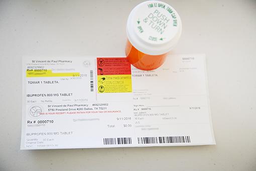 pill bottle with prescription label